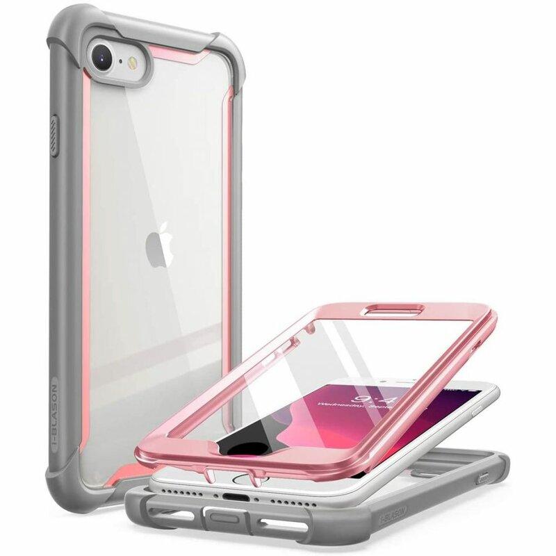 [Pachet 360°] Husa iPhone 8 i-Blason Ares + Folie Ecran - Pink