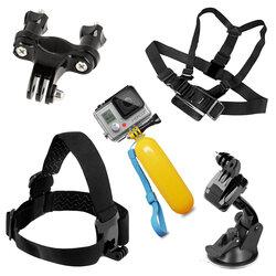 Set Accesorii GoPro Hero Universal 9in1 Plutitor/Harness/Selfie Stick/Banda Suport Elastica/Suport Auto - Negru