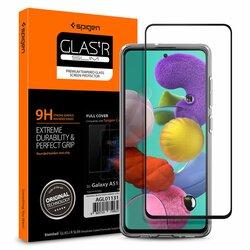 Folie Sticla Samsung Galaxy A51 Spigen Glas.t R Slim 9H - Black
