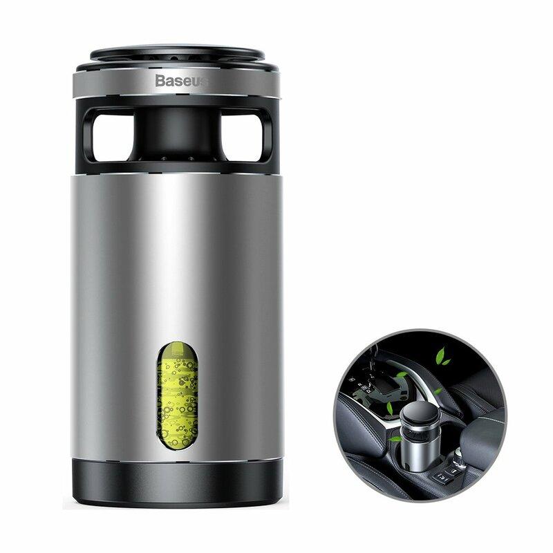 Purificator aer auto Baseus, formaldehida, odorizant casa, 100ml, argintiu, ACJHQ-0S