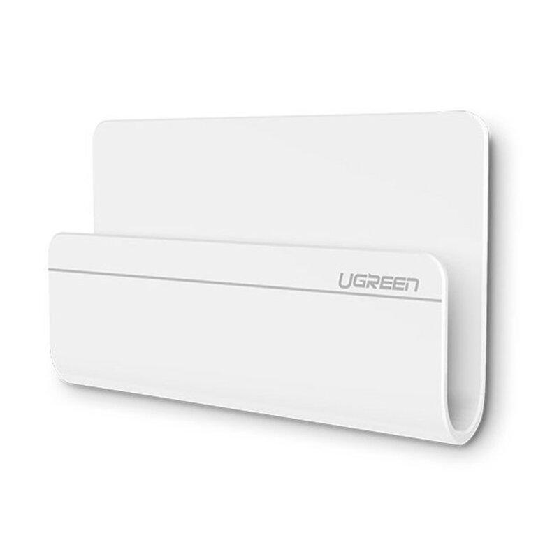 Suport Perete Telefon / Tableta Ugreen Wall Mount Holder Cu Adeziv Pentru Suprafete Universal - 30394 - White