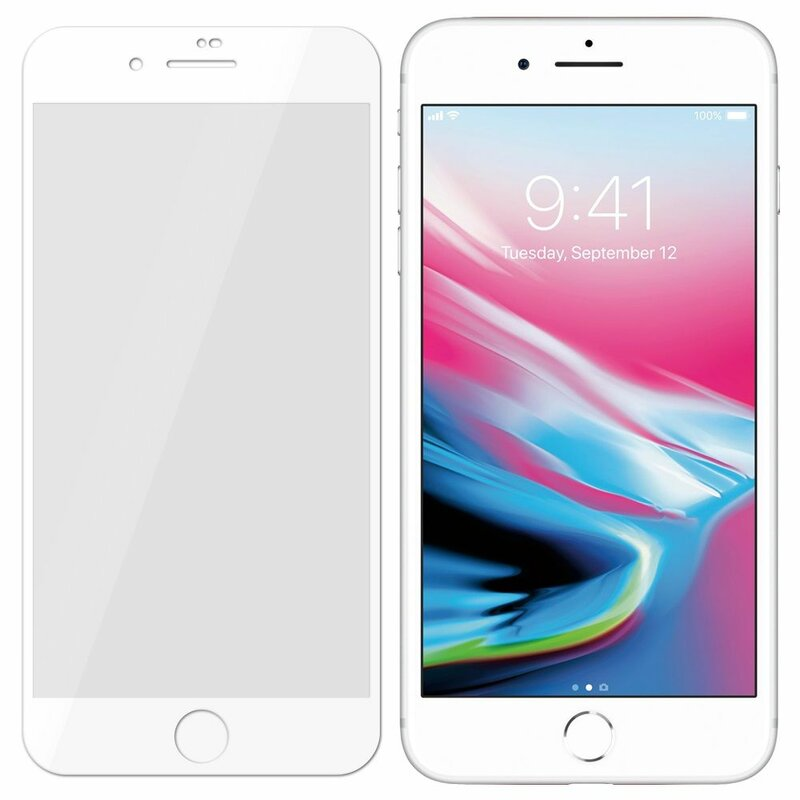 Folie Sticla iPhone 7 3MK Hard Glass Max Lite Tempered - White