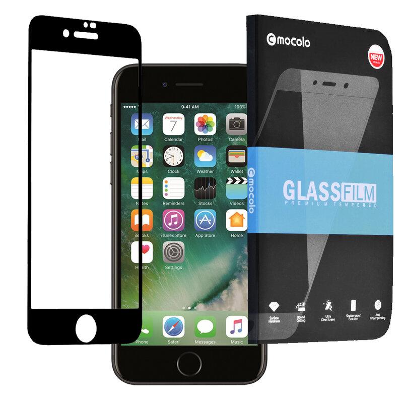 Folie Sticla iPhone 7 Mocolo Full Glue 9H - Black