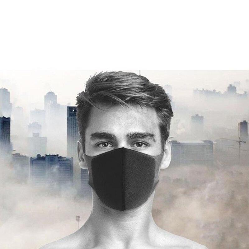 Masca De Protectie Fdtwelve C1 Pentru Fata Din Bumbac Nesterila Universala 2 Straturi Adulti Reutilizabila - Neagra