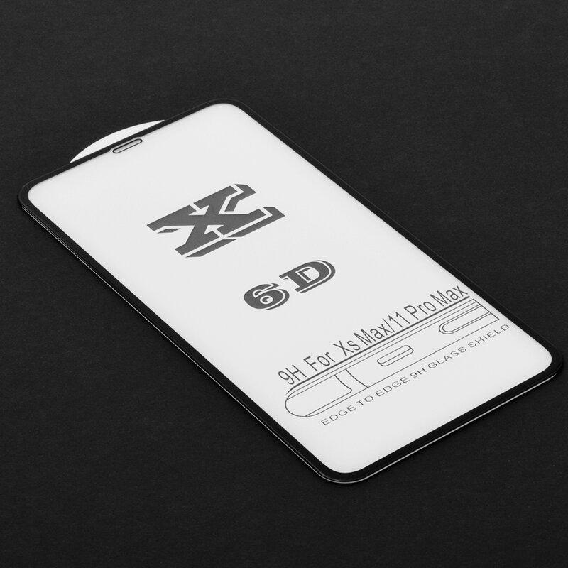 Folie Sticla iPhone XS Max Wozinsky 5D Full Screen Tempered - Negru