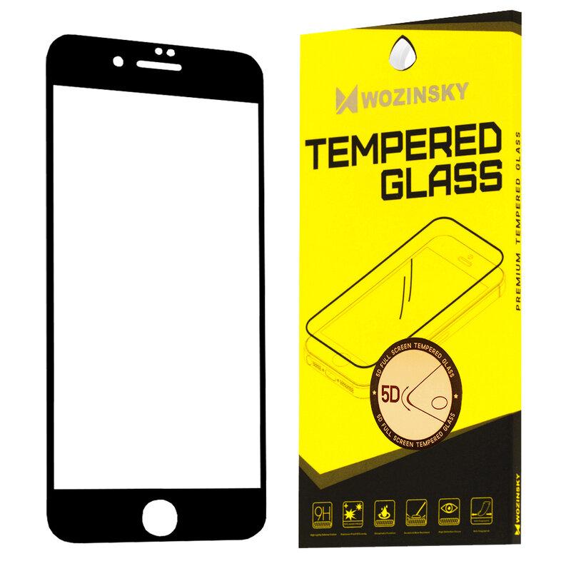 Folie Sticla iPhone SE 2, SE 2020 Wozinsky 5D Full Screen Tempered - Negru
