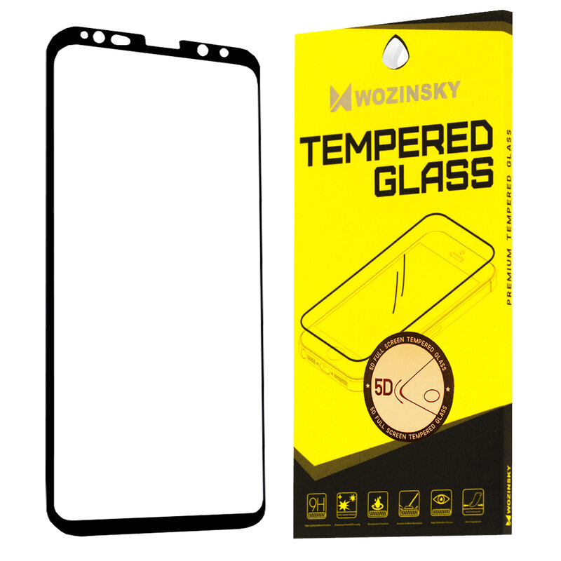 Folie Sticla Samsung Galaxy S9 Wozinsky 5D Full Screen Tempered - Negru