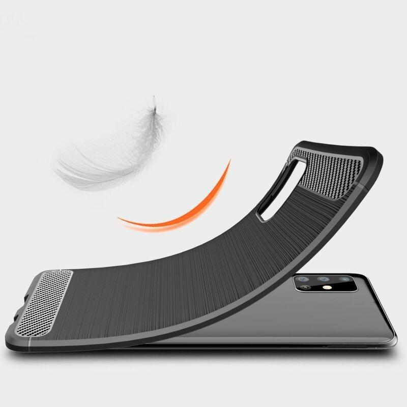 Husa Huawei P40 Lite E TPU Carbon - Negru