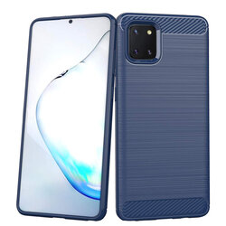 Husa Samsung Galaxy Note 10 Lite TPU Carbon - Albastru