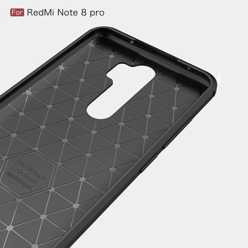 Husa Xiaomi Redmi Note 8 Pro TPU Carbon - Albastru