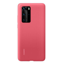 Husa Originala Huawei P40 Pro Silicone Case - Berry Red