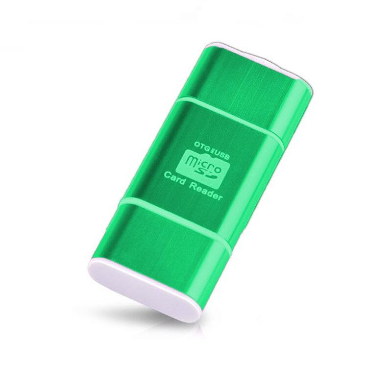 Card Reader OTG High-speed USB 2.0 + Micro-USB - CRM004 - Verde