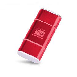 Card Reader OTG High-speed USB 2.0 + Micro-USB - CRM004 - Rosu
