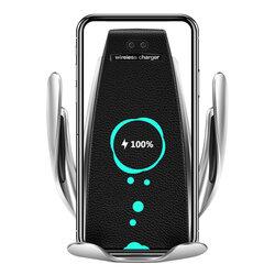 Suport Auto S5 2in1 Automatic Cu Incarcare Wireless Pentru Grila De Ventilatie/Panou De Bord 10W/2A/5V – Argintiu