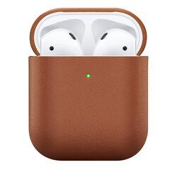Husa Apple Airpods Native Union Leather Case Din Piele Naturala Italiana Premium Fabricata Manual - Tan