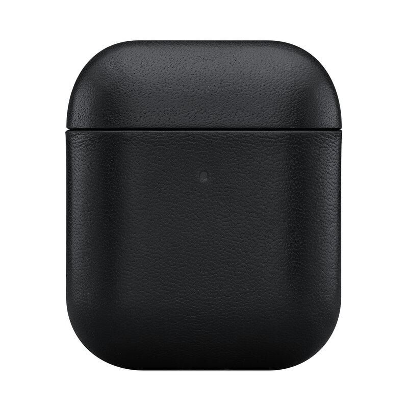 Husa Apple Airpods Native Union Leather Case Din Piele Naturala Italiana Premium Fabricata Manual - Black