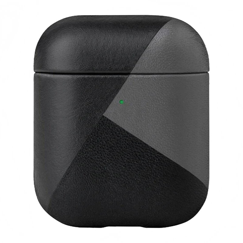 Husa Apple Airpods Native Union Marquetry Leather Case Piele Naturala Italiana Premium Fabricata Manual - Black