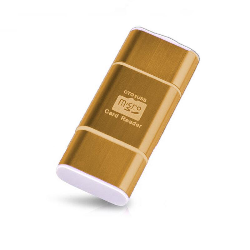 Card Reader OTG High-speed USB 2.0 + Micro-USB - CRM004 - Auriu