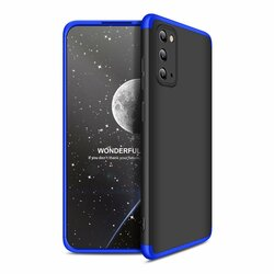 Husa Samsung Galaxy S20 5G GKK 360 Full Cover Negru-Albastru