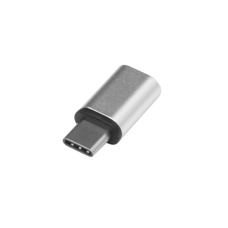 Adaptor Charger Micro-USB To Type-C Convertor Pentru Incarcare si Transfer De Date - 0009 - Argintiu