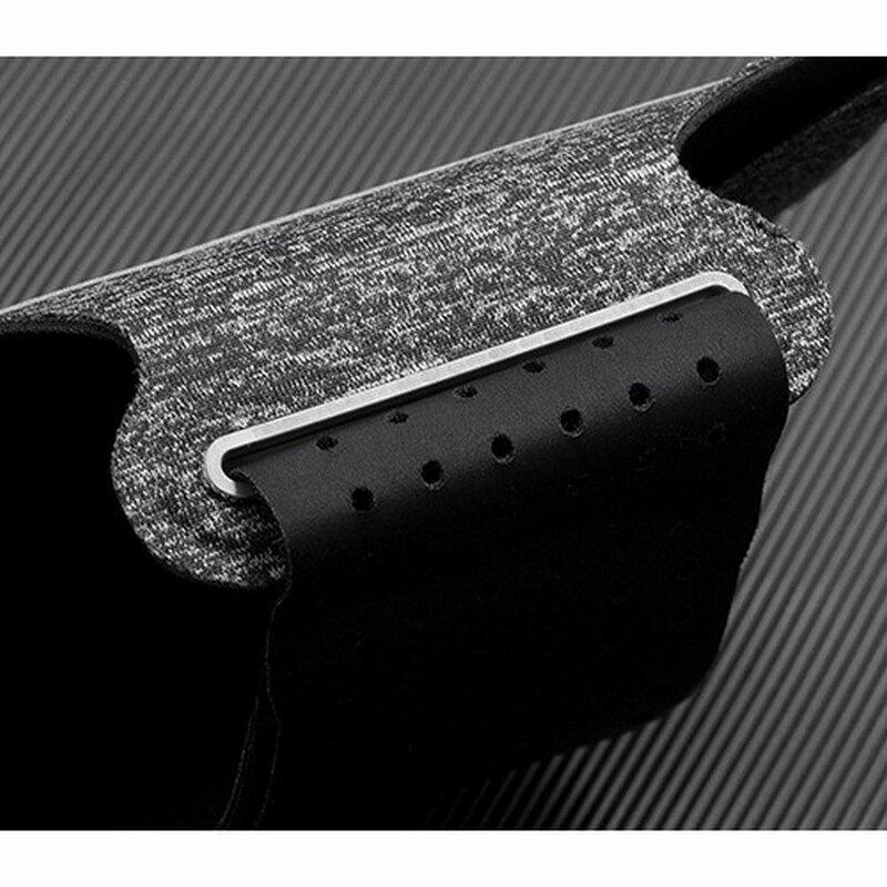 Husa Brat Alergare Tech-Protect G10 Universal Sport Case Armband Cu Prindere Velcro - Marime 4 - 6,5 inch - Grey