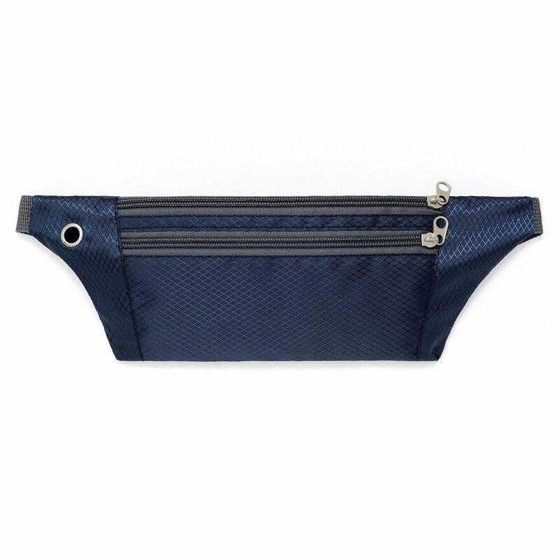 Husa Alergare Tripple Zip Belt Bag Ultimate Running With Headphone Outlet Tip Curea Borseta Universala - Blue