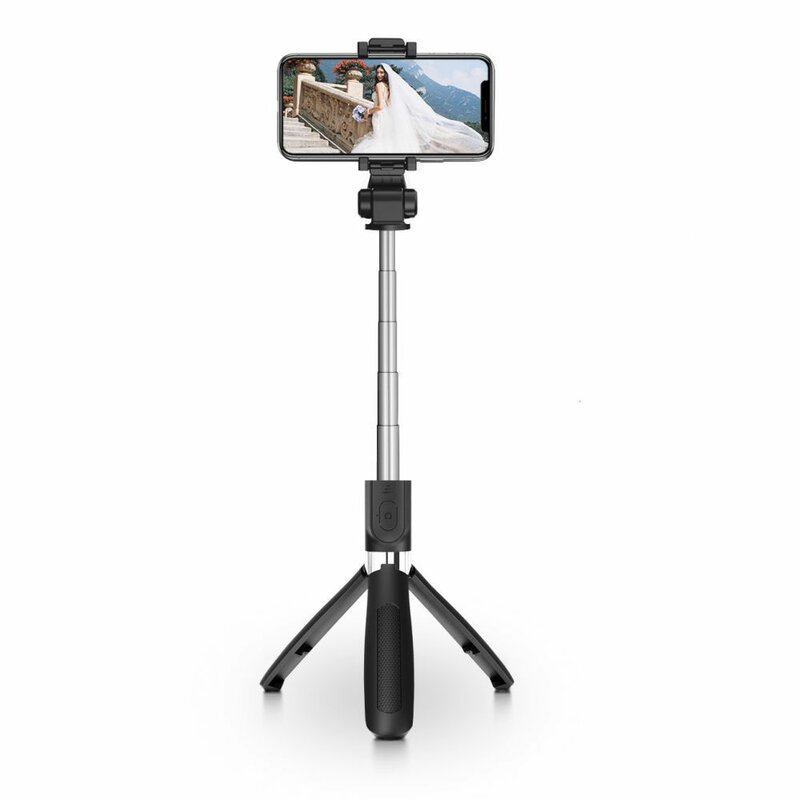 Suport Selfie Stick Tech-Protect L01S Wireless Tripod Universal Compatibil iOs / Android - Black