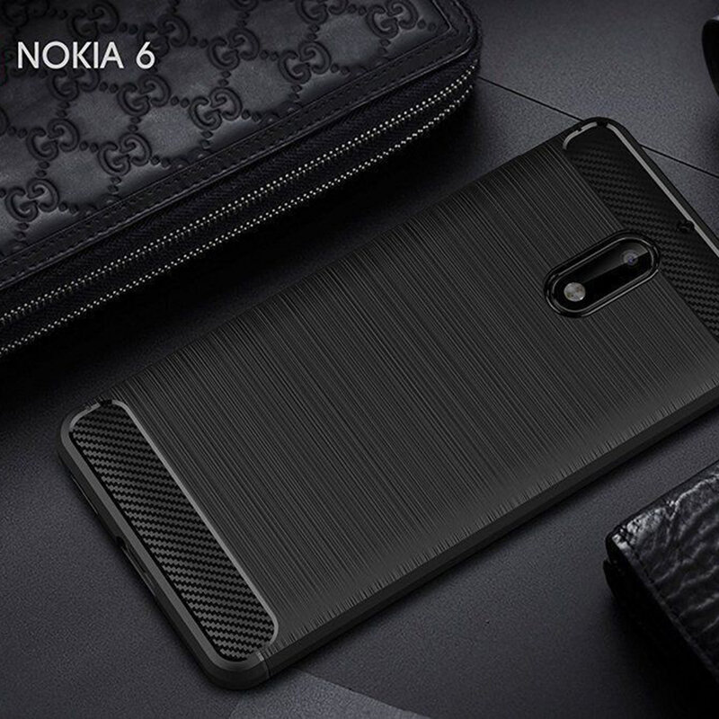 Husa Nokia 6 TPU Carbon Negru