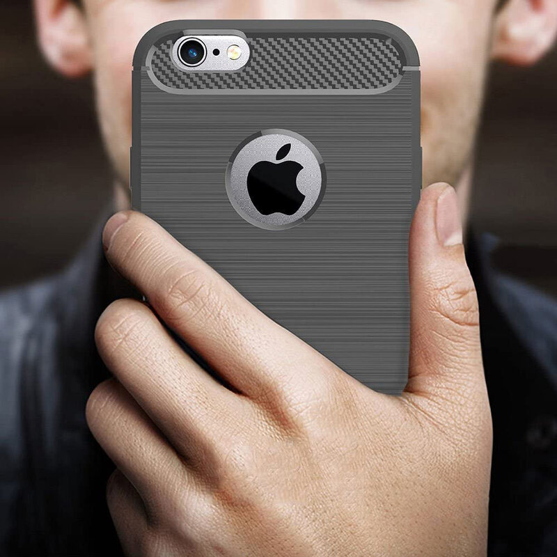 Husa iPhone 6, 6S TPU Carbon Negru