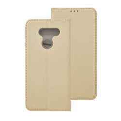 Husa Smart Book LG K50S Flip - Auriu