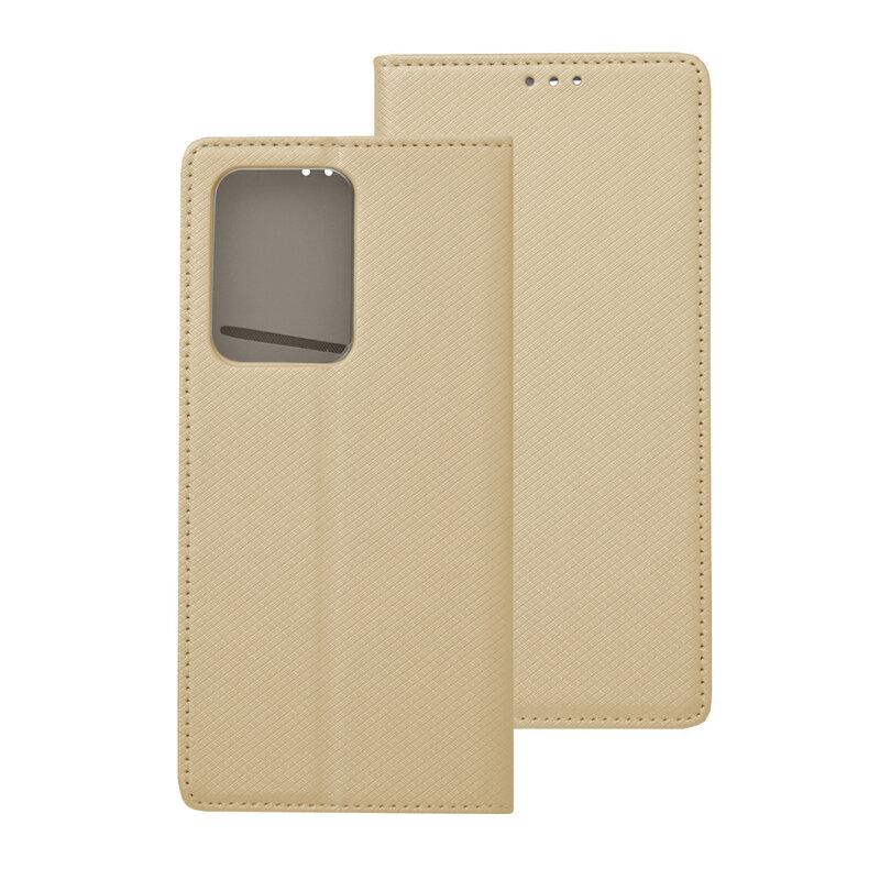 Husa Smart Book Samsung Galaxy S20 Ultra 5G Flip - Auriu