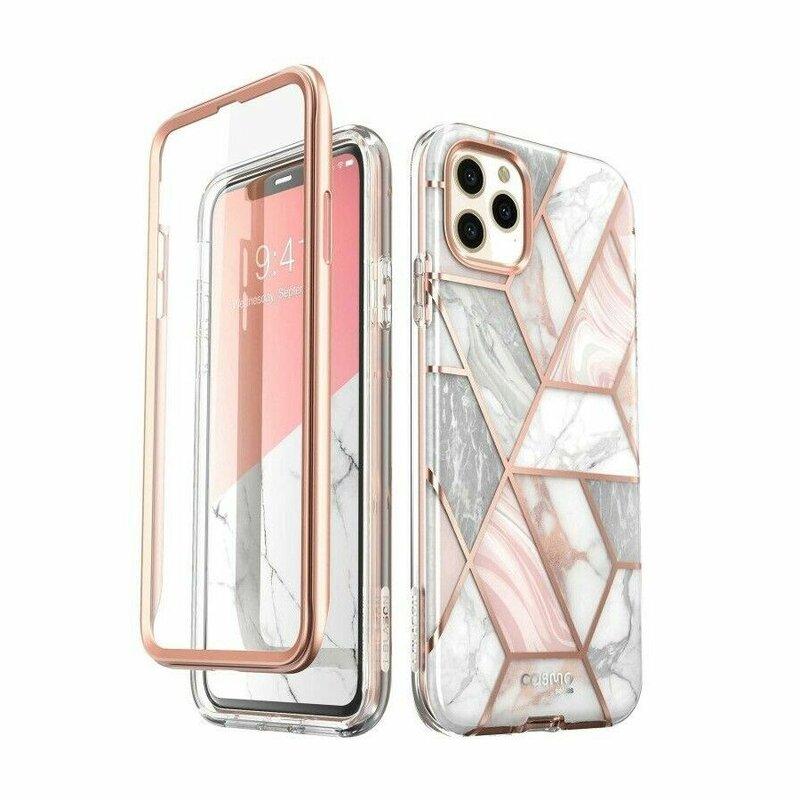 [Pachet 360°]Husa iPhone 11 Pro I-Blason Cosmo Marble + Folie Ecran - Clear