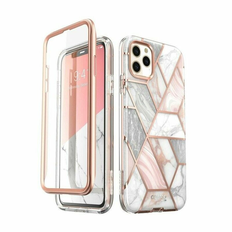 [Pachet 360°]Husa iPhone 11 Pro Max I-Blason Cosmo Marble + Folie Ecran - Clear