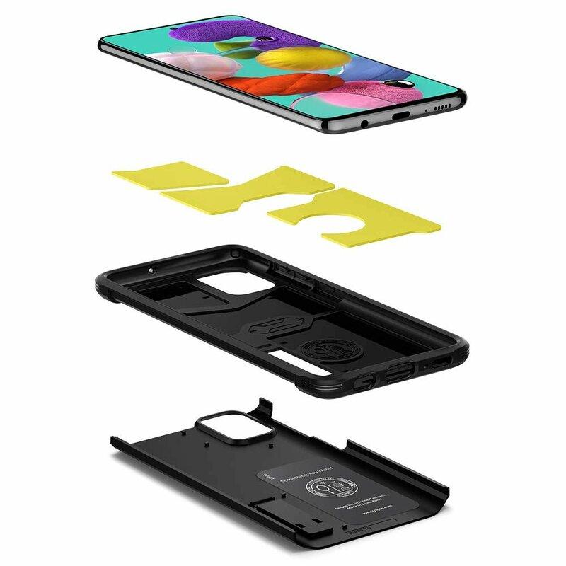 Husa Samsung Galaxy A51 Spigen Tough Armor - Black