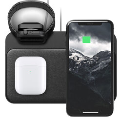 Incarcator Wireless Nomad Base Station 5 in 1 Apple Watch Stand USB-C/USB-A/Iphone/Apple Watch/AirPods - Black