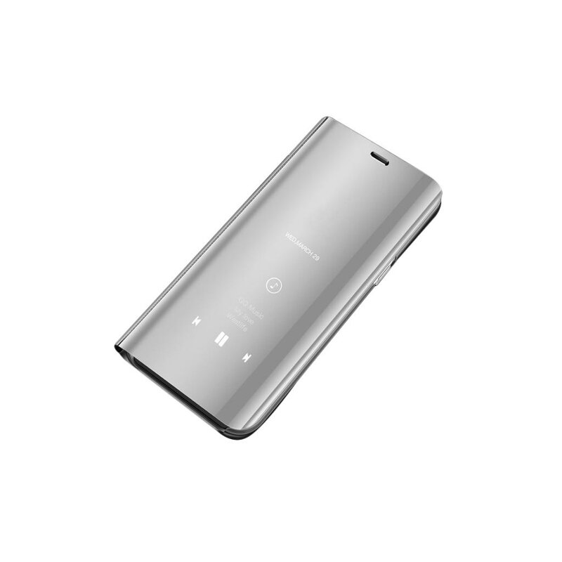 Husa iPhone 11 Pro Max Flip Standing Cover - Silver