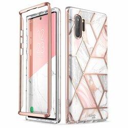 [Pachet 360°]Husa Samsung Galaxy Note 10 Plus I-Blason Cosmo Marble + Bumper - Clear
