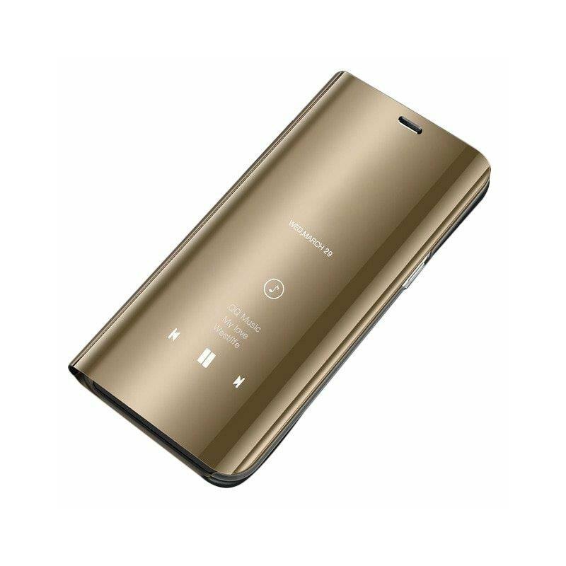 Husa Samsung Galaxy A21 Flip Standing Cover - Gold