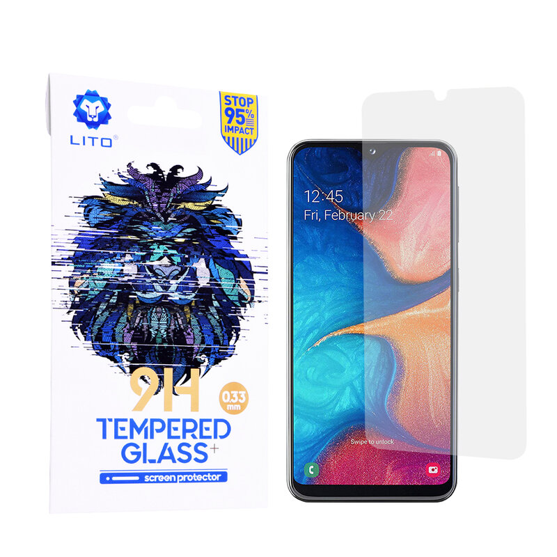 Folie Sticla Samsung Galaxy A20e Lito 9H Tempered Glass - Clear