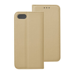 Husa Smart Book iPhone 8 Flip Auriu