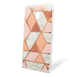 Husa Xiaomi Redmi 8A Mobster Laser Marble Shockproof TPU - Pink