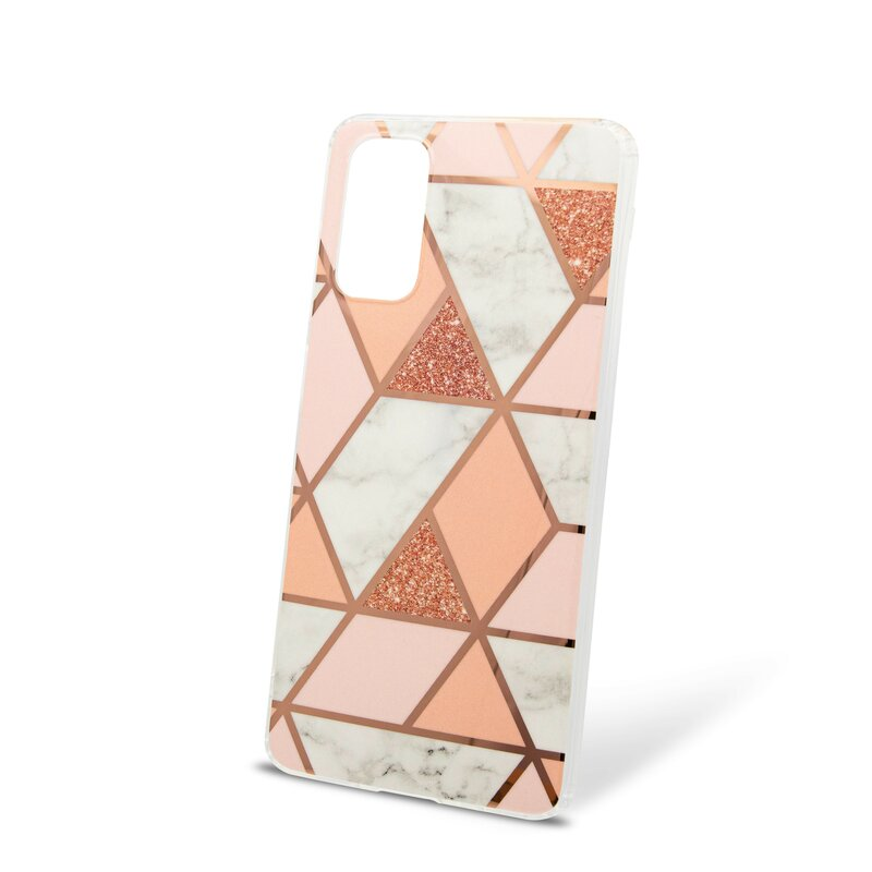 Husa Samsung Galaxy S20 Plus Mobster Laser Marble Shockproof TPU - Pink