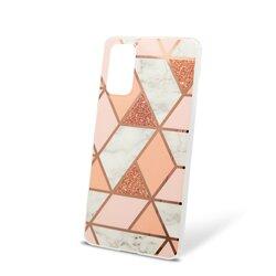 Husa Samsung Galaxy S20 Mobster Laser Marble Shockproof TPU - Pink