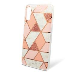 Husa Samsung Galaxy A70 Mobster Laser Marble Shockproof TPU - Pink