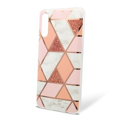 Husa Samsung Galaxy A30s Mobster Laser Marble Shockproof TPU - Pink