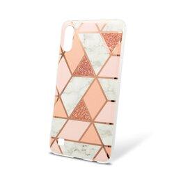 Husa Samsung Galaxy A10 Mobster Laser Marble Shockproof TPU - Pink