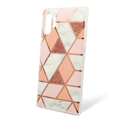 Husa Samsung Galaxy Note 10 Plus Mobster Laser Marble Shockproof TPU - Pink