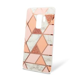 Husa Samsung Galaxy S9 Plus Mobster Laser Marble Shockproof TPU - Pink