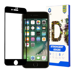Folie Sticla iPhone 7 Lito Strongest Edges Cu Rama - Negru