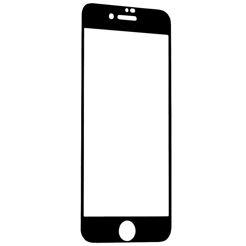 Folie Sticla iPhone 8 Lito 2.5D Full Glue Full Cover Cu Rama - Negru